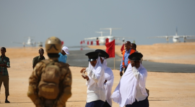 The opening ceromany Bosaso airport